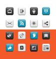 Internet web buttons vector