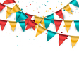 Festive bunting background vector