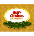 Christmas gold background with sparkling frame vector