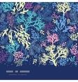 Underwater seaweed horizontal seamless pattern vector