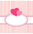 Birthday greeting valentine or wedding card with h vector