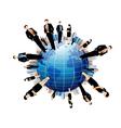 Businessmen world vector
