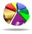 3d pie chart vector