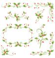 Holly decorative christmas design elements vector