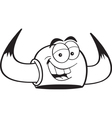 Cartoon viking helmet vector