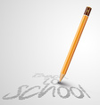 Back to school poster with a pencil and space vector