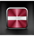 Latvia flag button icon country national vector
