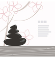 Spa background of black pebble decorated with flow vector