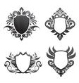 Shield-ornament-set vector