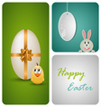 Happy easter decoration made from white paper vector
