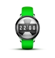 Sport smart watch with time and football ball vector