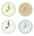 Set of seasonal clock summer autumn winter and vector
