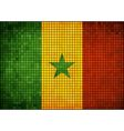 Abstract mosaic flag of senegal vector
