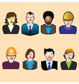 Six people icons vector