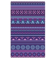 Ethnic various strips motifs in violet colors vector