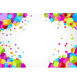 Colorful bright cube corner background vector