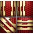 Red background with gold vector