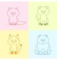 Animals flat set vector