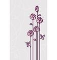 Flower roses card wedding background vector