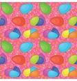 Seamless background easter eggs vector