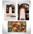 Ancient business card design letter n vector
