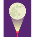 Flashlight moon vector