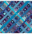 Diagonal plaid pattern in patchwork style with the vector