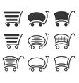 Icon set shopping vector