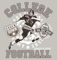 Football college vector