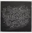 Travel summer hand lettering on chalkboard vector