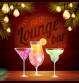 Vintage poster lounge club vector