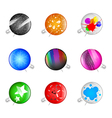 Colorful grunge pins badges vector
