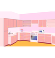Furniture on kitchen by set modern vector