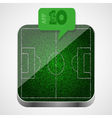 Soccer field app icon vector
