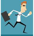 Running cartoon office worker vector