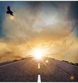 Eagle road background vector