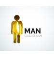Abstract logo - man icon vector