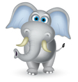 Elephant cartoon posing vector