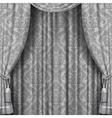 Gray curtain vector