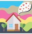 House heart smoke vector