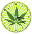 Cannabis clock vector