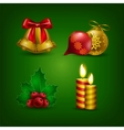 Collection of colorful christmas bauble vector