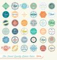 Finest quality labels color vector