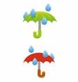 Umbrella and rain vector