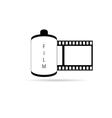 Camera film icon vector