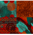 Set of abstract seamless pattern vector