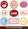 Set of christmas vintage vector
