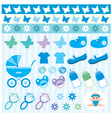 Scrapbook elements with children accessories vector