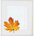 Maple leaf and writing book vector