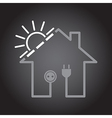 House as solar circuit vector